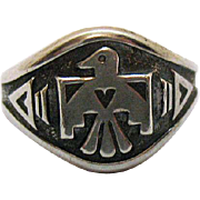 Signed Bell Trading Company Native American Indian Sterling Silver Vintage Ring