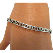 Awesome Gucci Style Sterling Silver Bracelet Made in Italy