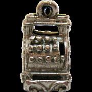 Unique Sterling Silver Vintage Cash Register Charm