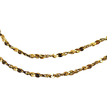 Italian 14K Yellow Gold Fancy Chain Vintage Necklace with Matching Bracelet Signed Italy - Red Tag Sale Item