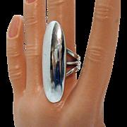 Signed Orville Tsinnie Master Navajo Award Winning Silversmith Vintage Sterling Silver Ring