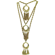 Amazing Three Tier Chain Vintage Heavy Tassel Necklace