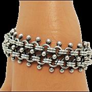 Heavy Vintage Signed Mexico 925 Sterling Silver Unisex Bracelet 83.4 Grams