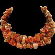 Organtic Vintage Natural Coral Beaded Necklace