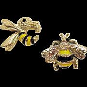 Signed Gerrys Vintage Bumblebee Wasp Enameled Scatter Pins
