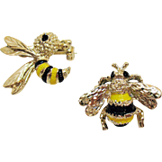 Signed Gerrys Vintage Bumblebee Wasp Enameled Scatter Pins