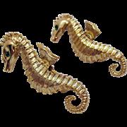 Adorable Vintage Figural Sea Horse Rhinestone Scatter Pins Brooch