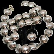 Vintage 800 Silver One Cent Canadian Penny Parure 1930s~1940s Necklace Bracelet Earrings