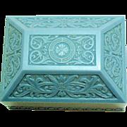 Art Deco Vintage Ornate Celluloid Signed Warner J.C. Company Ring or Presentation Box