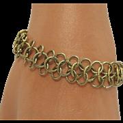 Signed Goldette Golden Link Vintage Bracelet