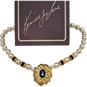 Signed Kenneth Jay Lane for Avon New York Collection Vintage Necklace Original Box Unworn 1991