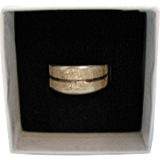 Signed Costa Rica Fine .999 Silver Vintage Hand Crafted Unisex Band Ring