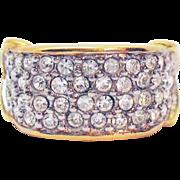 Signed Elizabeth Taylor for Avon Brilliance Collection Faux Pave Diamond Vintage Ring Unworn 1994