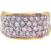 Signed Elizabeth Taylor for Avon Brilliance Collection Faux Pave Diamond Vintage Ring Unworn 1994