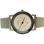 Vintage Estate Signed SKAGEN Denmark Stainless Steel Lady's Wrist Watch