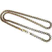 Vintage Gold Vermeil over 925 Sterling Silver 20 Inch Fancy link Chain Necklace