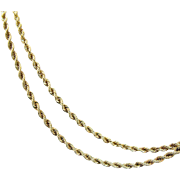 The Perfect Vintage 14K Yellow Gold Fancy Twisted Chain Necklace