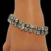 Signed Eisenberg Ice Vintage Double Rhinestone Bracelet #3077089