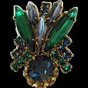 Signed Austria Vintage Rhinestone Figural Bug Brooch