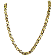 Signed Monet Vintage Golden Heavy Rolo Necklace Chain