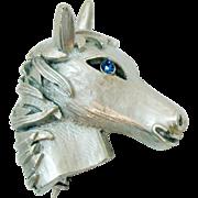 Rare Unsigned Crown Trifari Vintage Figural Horse Head Brooch