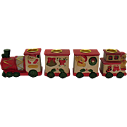 Vintage Ceramic Christmas Candle Train 1970s Good Condition