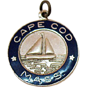 Signed Danecraft Sterling Silver Enameled Charm Cape Cod Massachusetts
