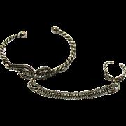 Vintage Slave Bracelet Ring Silver 800 Metal