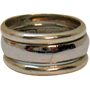 Vintage 925 Sterling Silver Set of 3 Stackable Band Rings