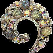Vintage Stainless Steel Gemstone Agate Amethyst Howlite Beaded Necklace