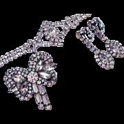 Sparkling Rhinestone Parure Vintage Bracelet Earrings Brooch Eisenberg