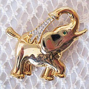 50% Off~Pava Rhinestone Brooch Figural Vintage Elephant~Fabulous!!