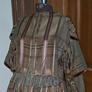 """1860's Victorian Large Size Dress """"As Is"""""""