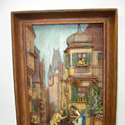 ANRI wood carving Carl Spitzweg painting WEDDING PROPOSAL