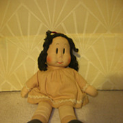 "Vintage Cloth Cartoon Character ""Little LuLu"" Doll All Original"