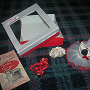 Vintage 1950's Tagged Cosmopolitan Ginger Doll Boxed Outfit!