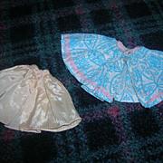 """Vintage 1950s NASB Tagged """"Miss Nancy Ann"""" Skirt and Slip Set!"""