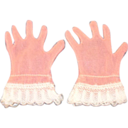 Vintage HTF 1950's Pair of Cissy Peachy Pink Gloves!
