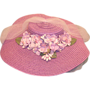 Retro  Cissy Straw Hat Custom Made !