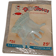 Vintage HTF 1950's MIP Pair of Cissy Blue Gloves!