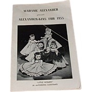 Vintage Original Madame Alexander Alexander-kins for 1955 Booklet