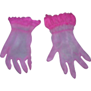 Vintage HTF 1950's Pair of Cissy Rose Pink Gloves!