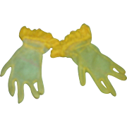 Vintage HTF 1950's Pair of Cissy Sunny Yellow Gloves!