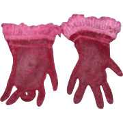 Vintage HTF 1950's Pair of Cissy Red Gloves!