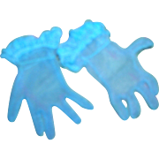Vintage HTF 1950's Pair of Cissy Blue Gloves!