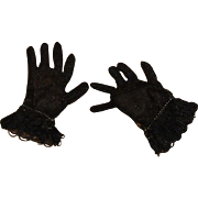 Vintage HTF 1950's Pair of Cissy Black Gloves!