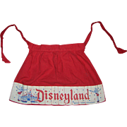 Vintage Child's Cloth Disneyland Apron