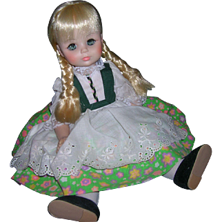 Madame Alexander 1960's Heidi Doll in Original Tagged Outfit!