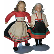 Pair of Vintage Ronnaug Petterssen Dolls All Original