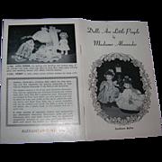 """Vintage Original Madame Alexander Alexander-Kins """"Southern Belles""""  Booklet"""